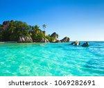 peace summer beauty  | Shutterstock . vector #1069282691