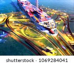 commercial ship vessel carry... | Shutterstock . vector #1069284041