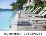 swimming pool entrance with... | Shutterstock . vector #1069290281