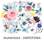creative universal artistic...   Shutterstock .eps vector #1069291064