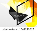 vector color geometric abstract ... | Shutterstock .eps vector #1069293017