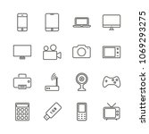 electronic device set icon...