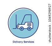 delivery related offset style... | Shutterstock .eps vector #1069298927