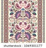 indian seamless pattern.... | Shutterstock .eps vector #1069301177