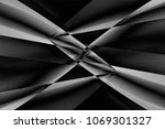 abstract modern architecture.... | Shutterstock . vector #1069301327