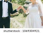 wedding couple bride and groom... | Shutterstock . vector #1069304921