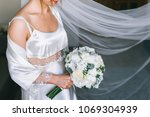 wedding dress  wedding rings ... | Shutterstock . vector #1069304939