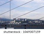 high rise buildings of modern... | Shutterstock . vector #1069307159
