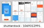 design of the mobile app ui  ux.... | Shutterstock .eps vector #1069312991