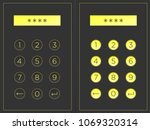 circular buttons with numbers ...