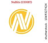 vector nubits  usnbt  digital... | Shutterstock .eps vector #1069327424