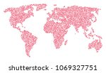 geographic collage map designed ... | Shutterstock .eps vector #1069327751