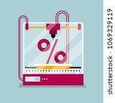 3d printing a percentage symbol ...   Shutterstock .eps vector #1069329119