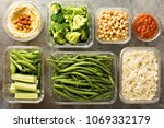 vegan meal prep with cooked... | Shutterstock . vector #1069332179