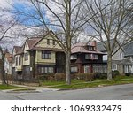 middle class houses on american ... | Shutterstock . vector #1069332479