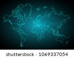 abstract mash line and point...   Shutterstock .eps vector #1069337054