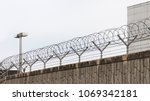 barbed wire entanglement on a...   Shutterstock . vector #1069342181