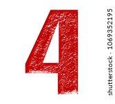 rough rocky metallic red number ...   Shutterstock . vector #1069352195