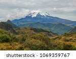 landscape with the peak of the... | Shutterstock . vector #1069359767