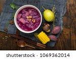 chinese style dessert tremella  ... | Shutterstock . vector #1069362014