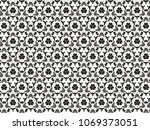 ornament with elements of black ... | Shutterstock . vector #1069373051