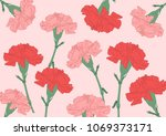 mother's flower carnation | Shutterstock .eps vector #1069373171