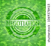 negotiation green emblem with... | Shutterstock .eps vector #1069378415