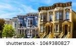colorful italianate victorian... | Shutterstock . vector #1069380827