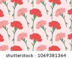 mother's flower carnation | Shutterstock .eps vector #1069381364