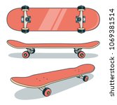 Red Skateboard From Various...