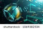 connecting the world with... | Shutterstock . vector #1069382534