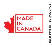 a simple made in canada stamp... | Shutterstock .eps vector #1069389401