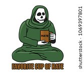 coffee or tea is always good ... | Shutterstock .eps vector #1069397801