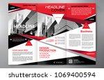 business brochure. flyer design.... | Shutterstock .eps vector #1069400594