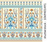 oriental fabric vector seamless ... | Shutterstock .eps vector #1069401491