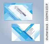 blue and white modern business... | Shutterstock .eps vector #1069411019