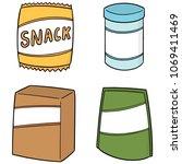 vector set of snack | Shutterstock .eps vector #1069411469
