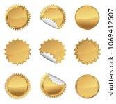 Gold Starbursts Set  ...