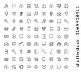internet icon set. collection... | Shutterstock .eps vector #1069418411