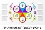infographic design template.... | Shutterstock .eps vector #1069419341