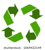 vector recycle sign | Shutterstock .eps vector #1069422149