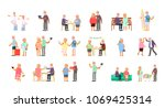 big set of healthy active... | Shutterstock . vector #1069425314