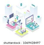 productive teamwork as recipe... | Shutterstock .eps vector #1069428497