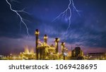 petrochemical industrial plant... | Shutterstock . vector #1069428695