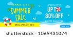 summer sale banner vector... | Shutterstock .eps vector #1069431074