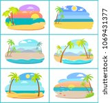 sandy beaches in broad daylight ... | Shutterstock .eps vector #1069431377