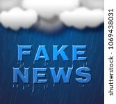fake news wet words under... | Shutterstock . vector #1069438031