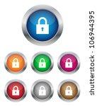lock buttons | Shutterstock .eps vector #106944395