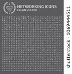 internet and network icon set... | Shutterstock .eps vector #1069444511