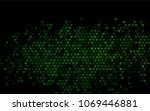 dark green vector abstract... | Shutterstock .eps vector #1069446881